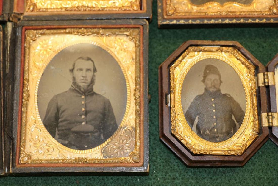 A GROUP OF 12 CASED CIVIL WAR SOLDIER PHOTOGRAPHI - 3