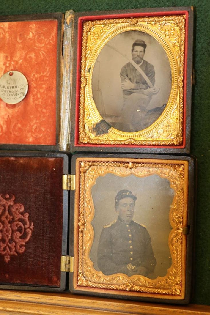 A GROUP OF 12 CASED CIVIL WAR SOLDIER PHOTOGRAPHI - 4