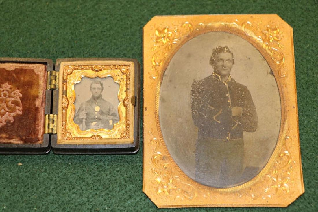 A GROUP OF 12 CASED CIVIL WAR SOLDIER PHOTOGRAPHI - 5