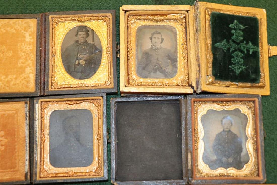 A GROUP OF 12 CASED CIVIL WAR SOLDIER PHOTOGRAPHI - 6