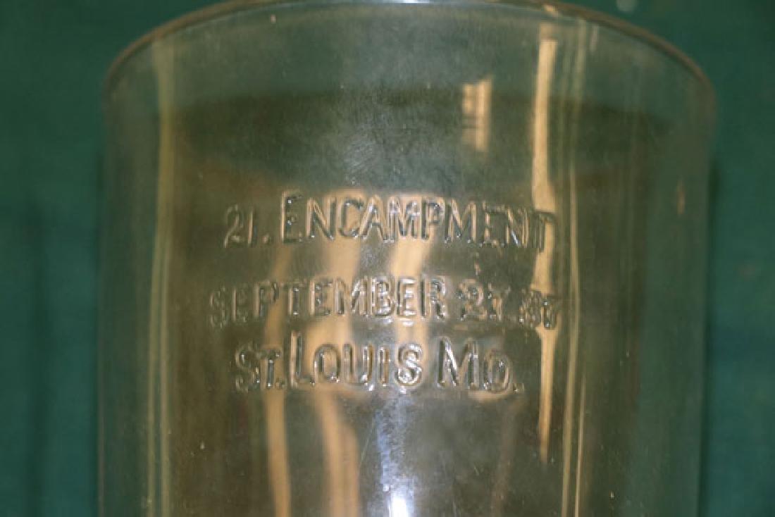 THREE RARE CIVIL WAR GAR GLASS SOUVENIRS - 4