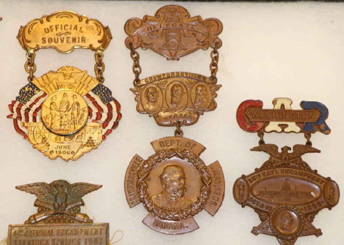 GROUP OF 18 FINE CIVIL WAR GAR BADGES, CIRCA 1896 - 3