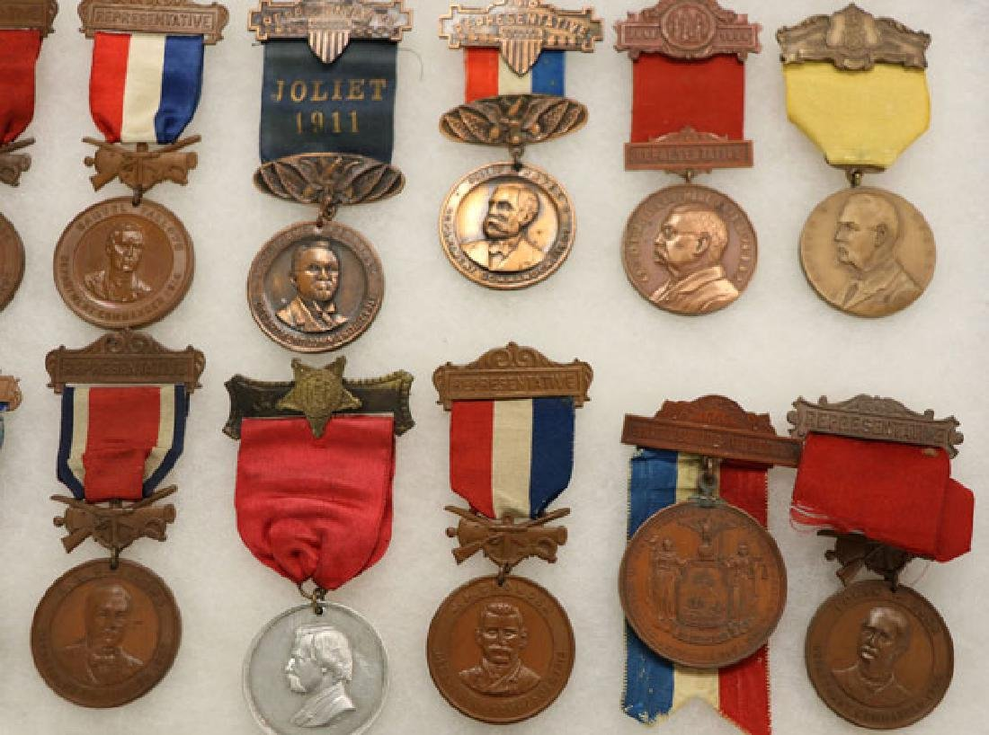 GROUP OF 21 FINE CIVIL WAR GAR BADGES, CIRCA 1894 - 3