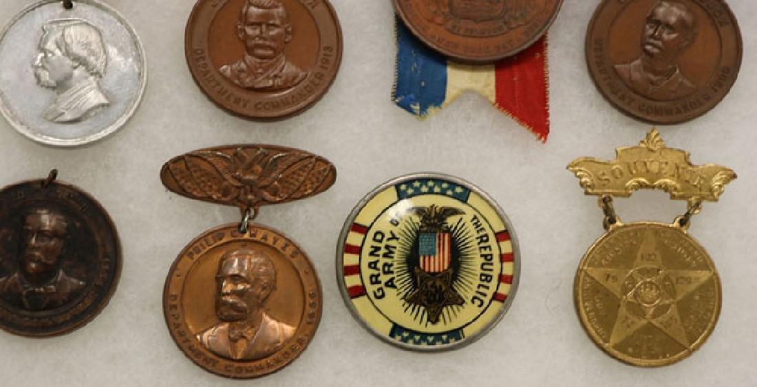 GROUP OF 21 FINE CIVIL WAR GAR BADGES, CIRCA 1894 - 4