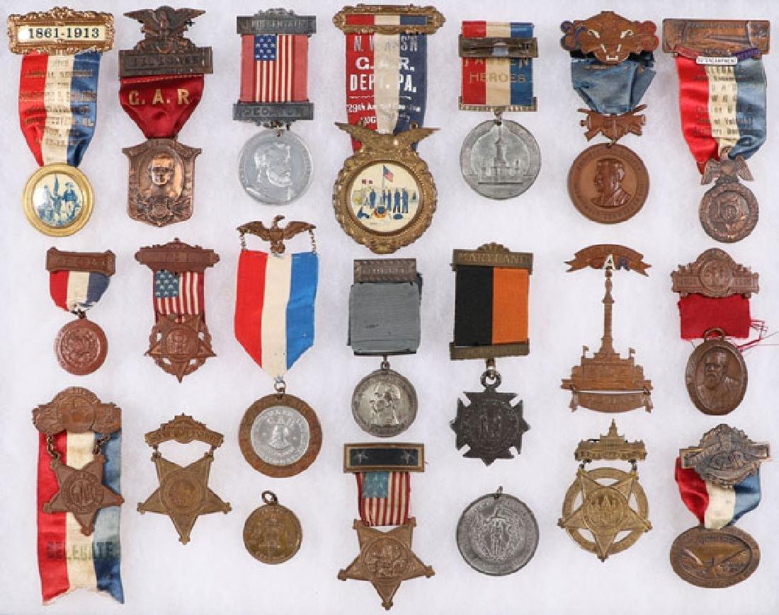 57 CIVIL WAR BADGES (THE MAJORITY GAR)