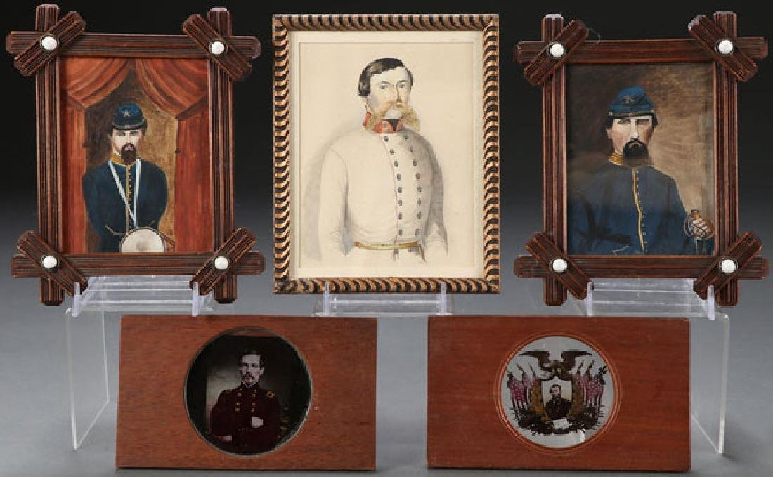 THREE CIVIL WAR RELATED MILITARY PORTRAITS