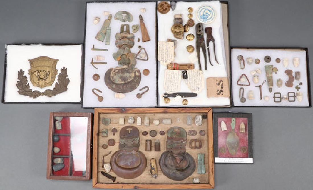 A GROUP OF OVER 150 CIVIL WAR REGALIA AND RELICS