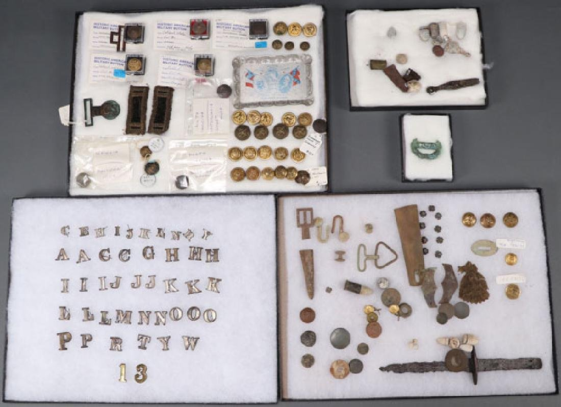 A GROUP OF OVER 150 CIVIL WAR REGALIA AND RELICS - 2