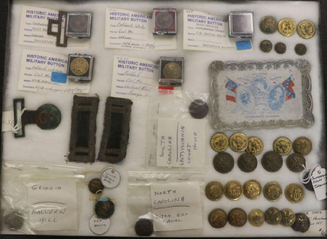 A GROUP OF OVER 150 CIVIL WAR REGALIA AND RELICS - 7