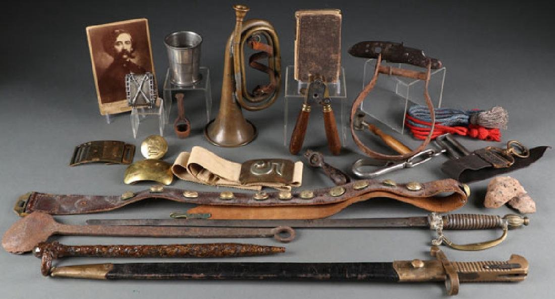 A GROUP OF 20 CIVIL WAR RELATED ITEMS, CIRCA 1860