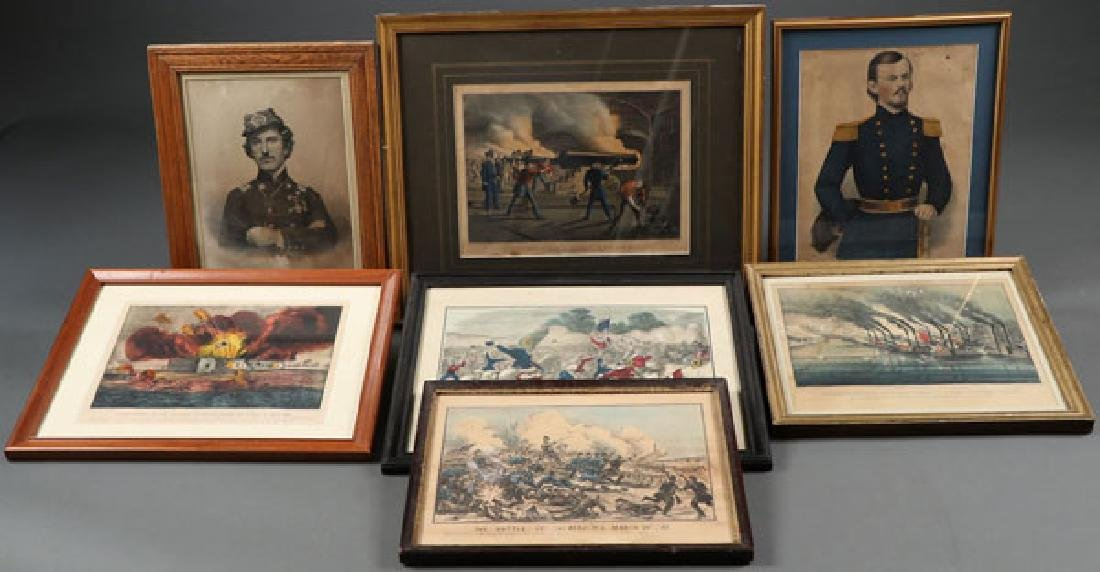 A GROUP OF SEVEN VINTAGE CIVIL WAR PRINTS