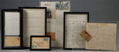 A GROUP OF CIVIL WAR LETTERS AND COVERS