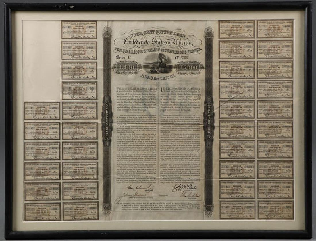 SEVEN CONFEDERATE CIVIL WAR BONDS - 2