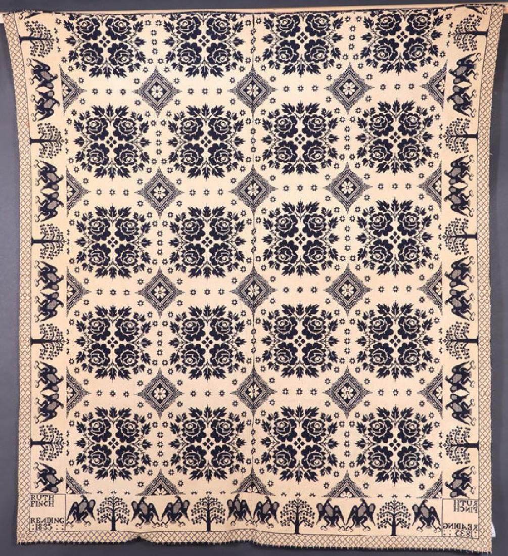 TWO 19TH CENTURY COVERLETS