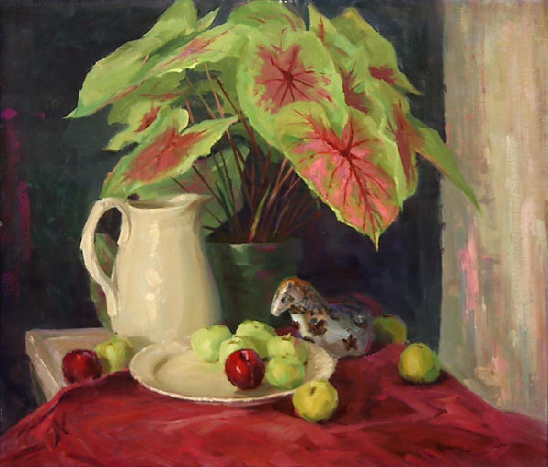 A PAIR OF FLORAL STILL LIFES BY ROD GOEBEL