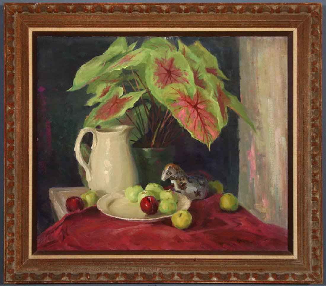 A PAIR OF FLORAL STILL LIFES BY ROD GOEBEL - 2