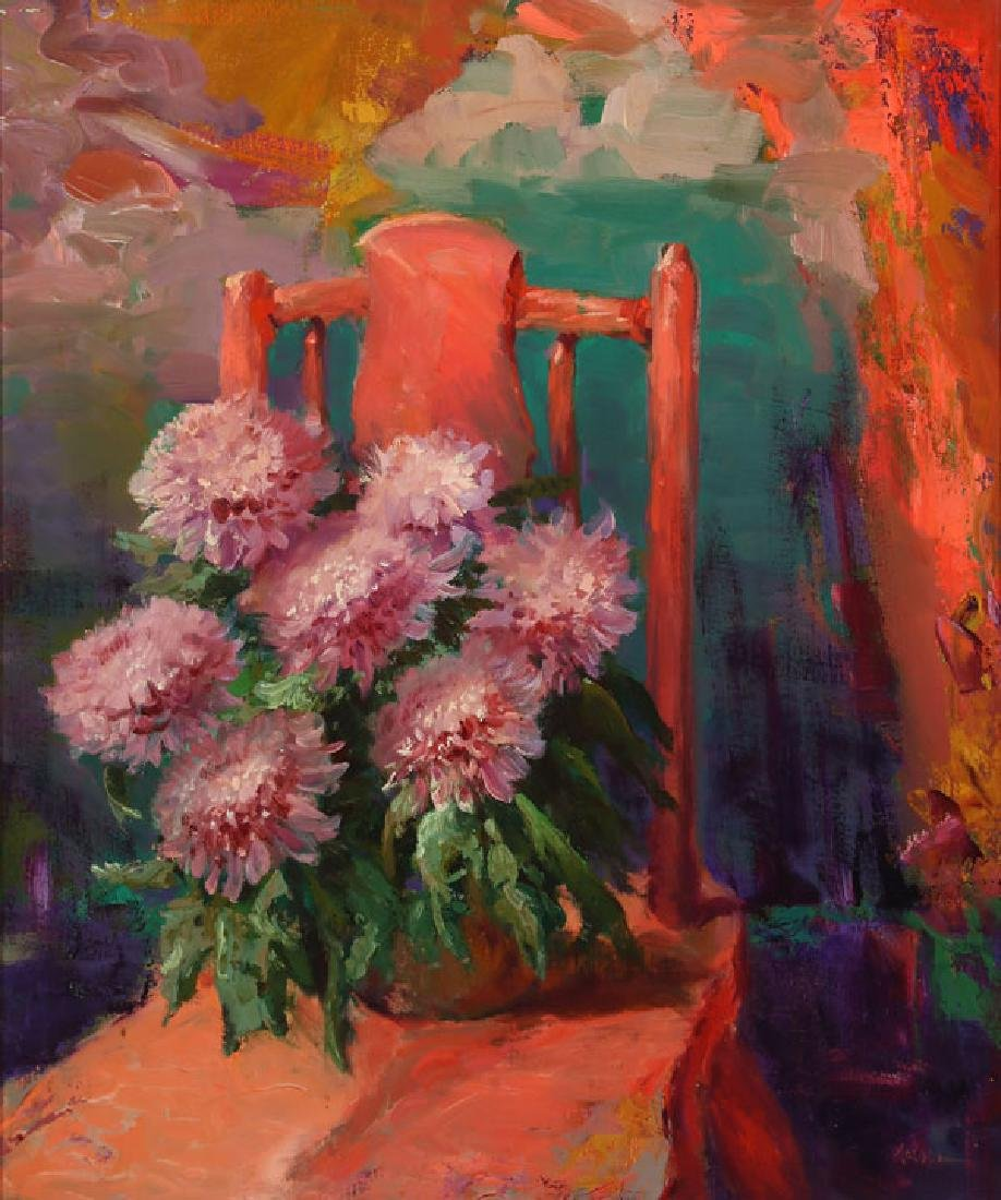 A PAIR OF FLORAL STILL LIFES BY ROD GOEBEL - 5