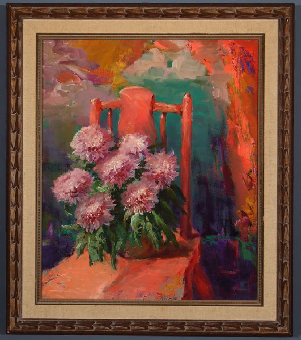 A PAIR OF FLORAL STILL LIFES BY ROD GOEBEL - 6