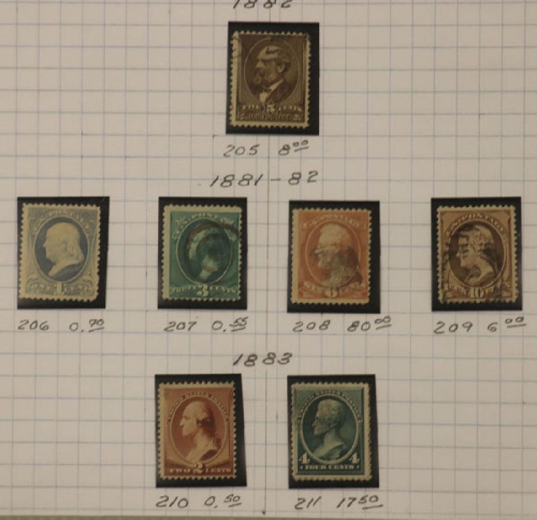 A GOOD COLLECTION OF EARLY US POSTAGE STAMPS - 10