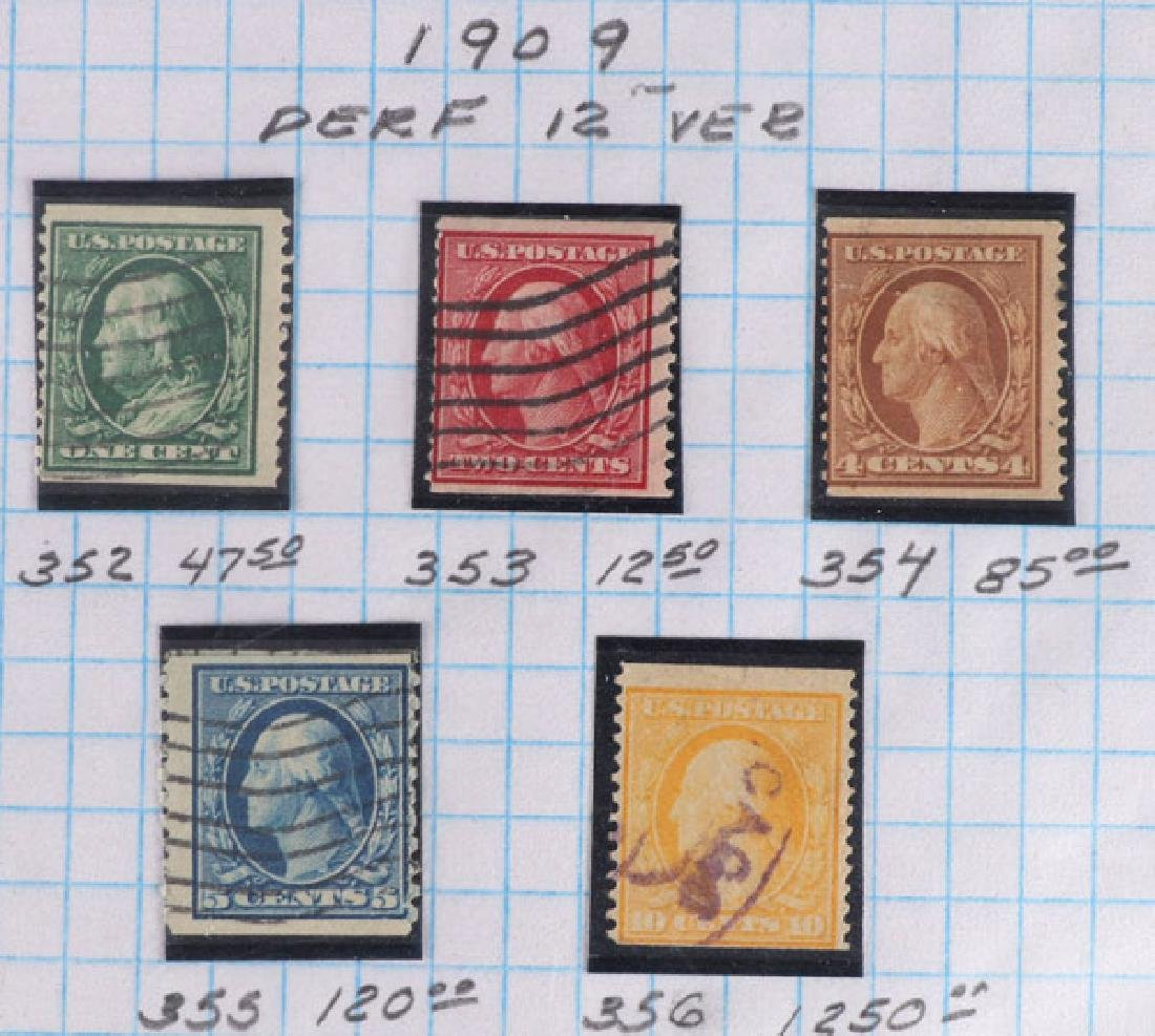 A GOOD COLLECTION OF EARLY US POSTAGE STAMPS - 5