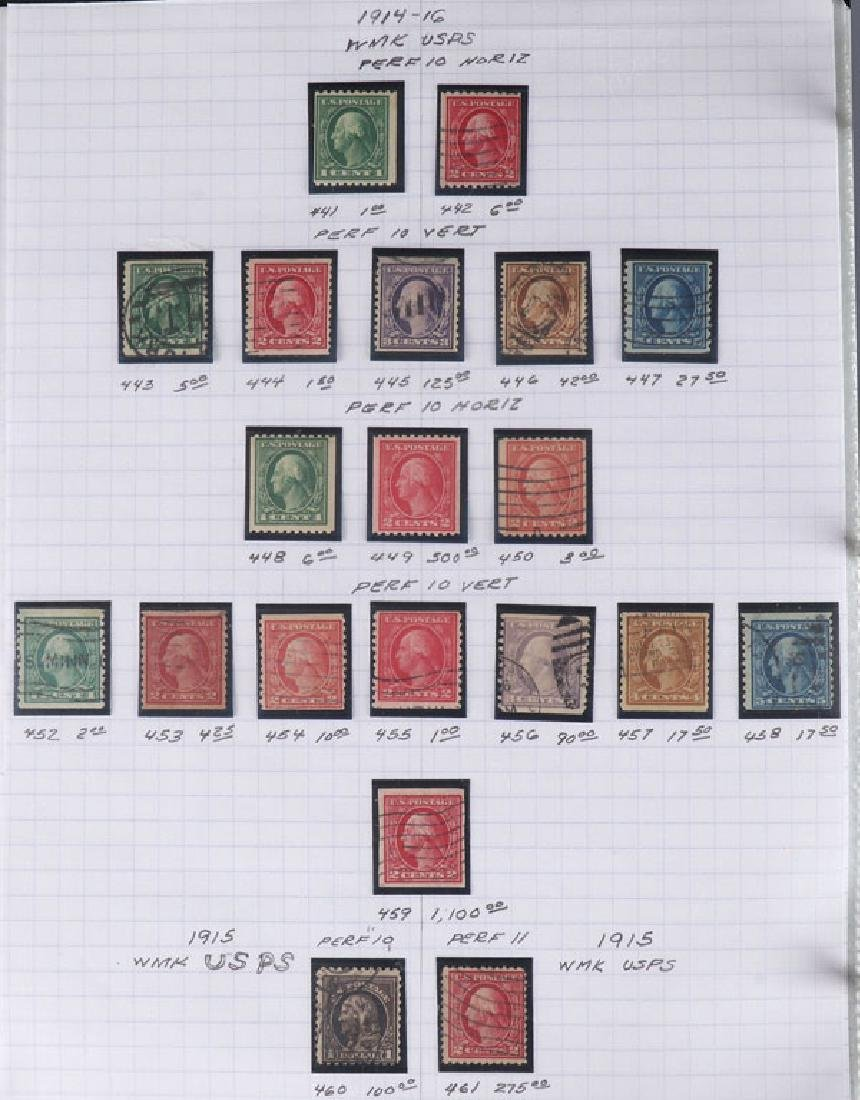 A GOOD COLLECTION OF EARLY US POSTAGE STAMPS - 6