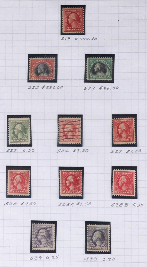 A GOOD COLLECTION OF EARLY US POSTAGE STAMPS - 7