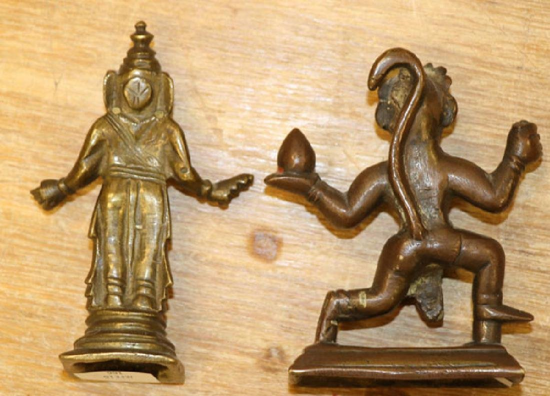 A GROUP OF THREE SINO-TIBETAN BRONZE DEITIES - 2