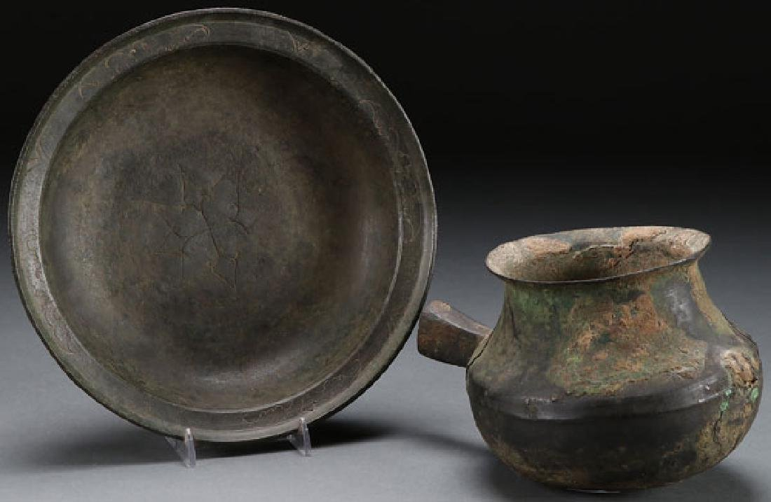 A PAIR OF ANCIENT CHINESE BRONZE VESSELS