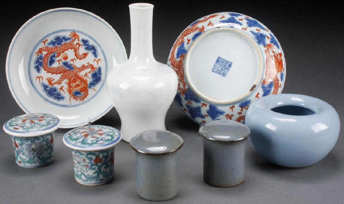 8 PC CHINESE DECORATED PORCELAIN
