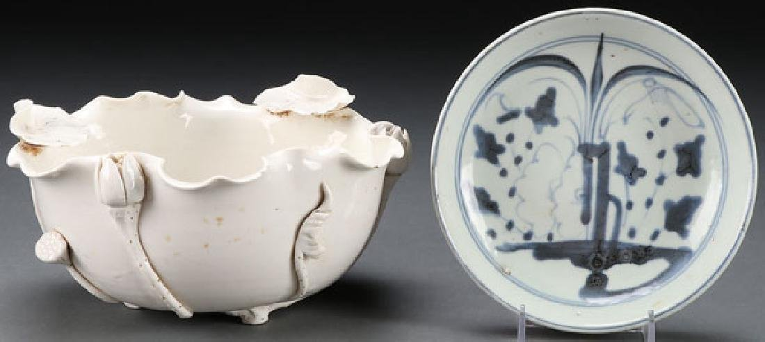 CHINESE BLANC DE CHINE & EXPORT PLATE