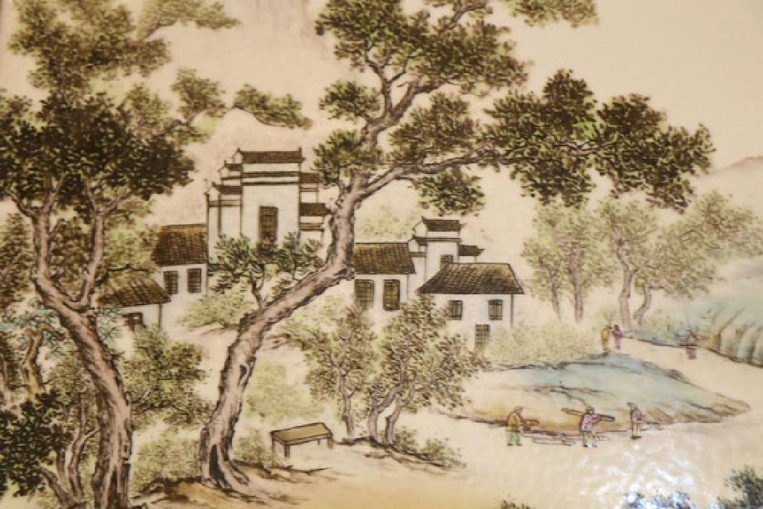 TWO CHINESE FAMILLE ROSE PORCELAIN PLAQUES - 3
