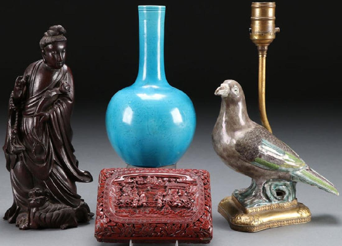 FOUR PIECE GROUP OF CHINESE DECORATIVE ARTS