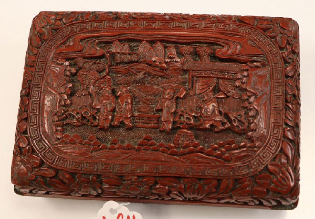 FOUR PIECE GROUP OF CHINESE DECORATIVE ARTS - 2