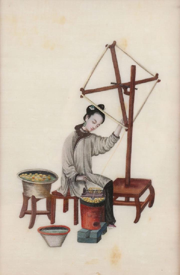 A PAIR OF PAINTINGS, CHINESE SCHOOL, 19TH CENTURY - 2