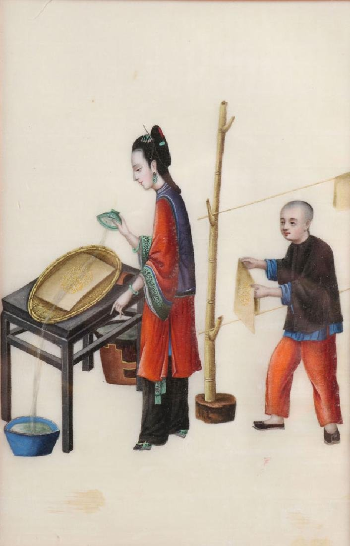 A PAIR OF PAINTINGS, CHINESE SCHOOL, 19TH CENTURY - 3
