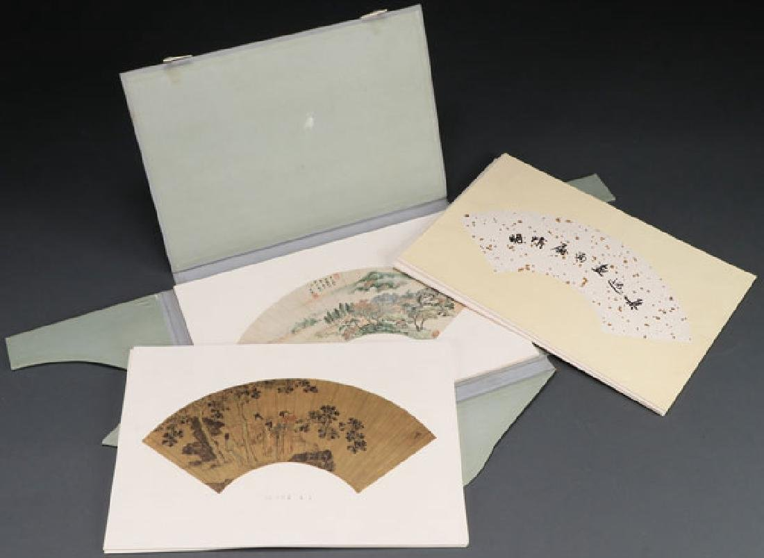 A CHINESE UNBOUND BOOK OF FANS