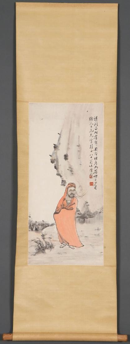 ATTRIBUTED TO REN YU CHINESE (1853-1901) SCROLL - 5