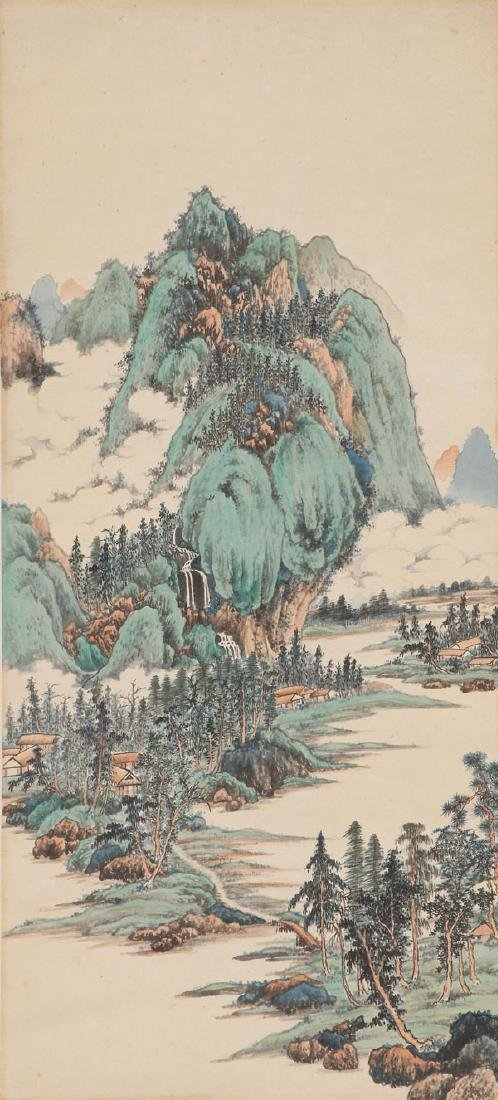ATTRIBUTED TO REN YU CHINESE (1853-1901) SCROLL - 7