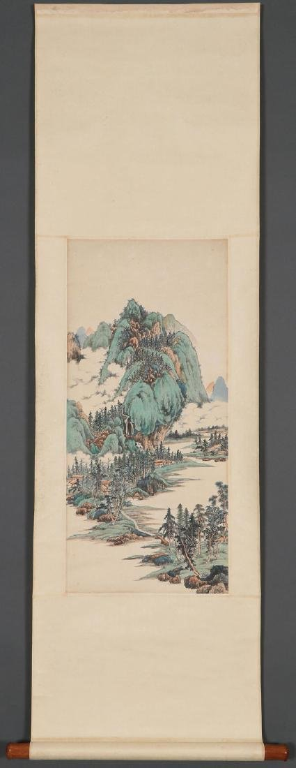 ATTRIBUTED TO REN YU CHINESE (1853-1901) SCROLL - 8
