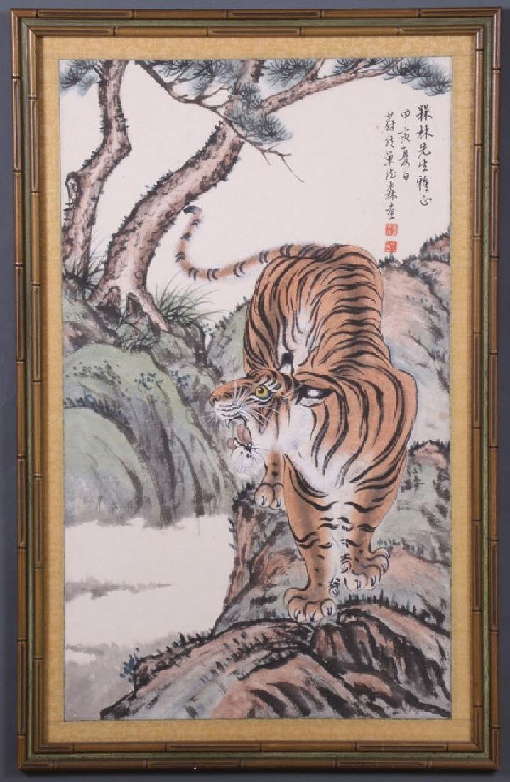 A CHINESE HAND PAINTED SCROLL