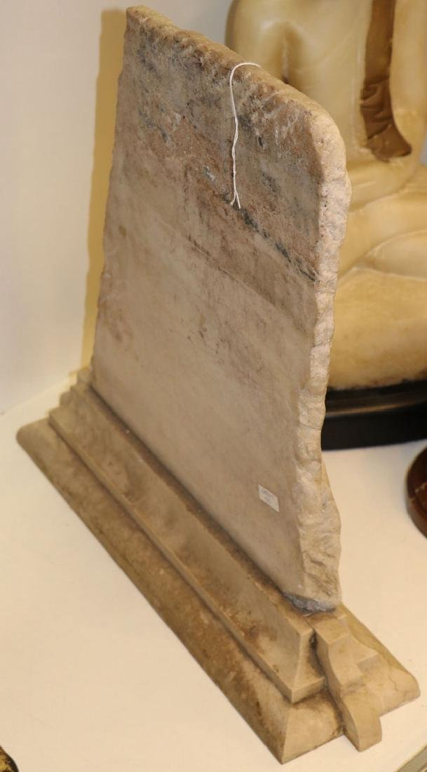 A LARGE SINO-TIBETAN CARVED LIMESTONE STELE - 3