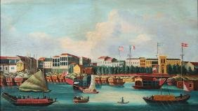 A Chinese Export Style Oil Painting
