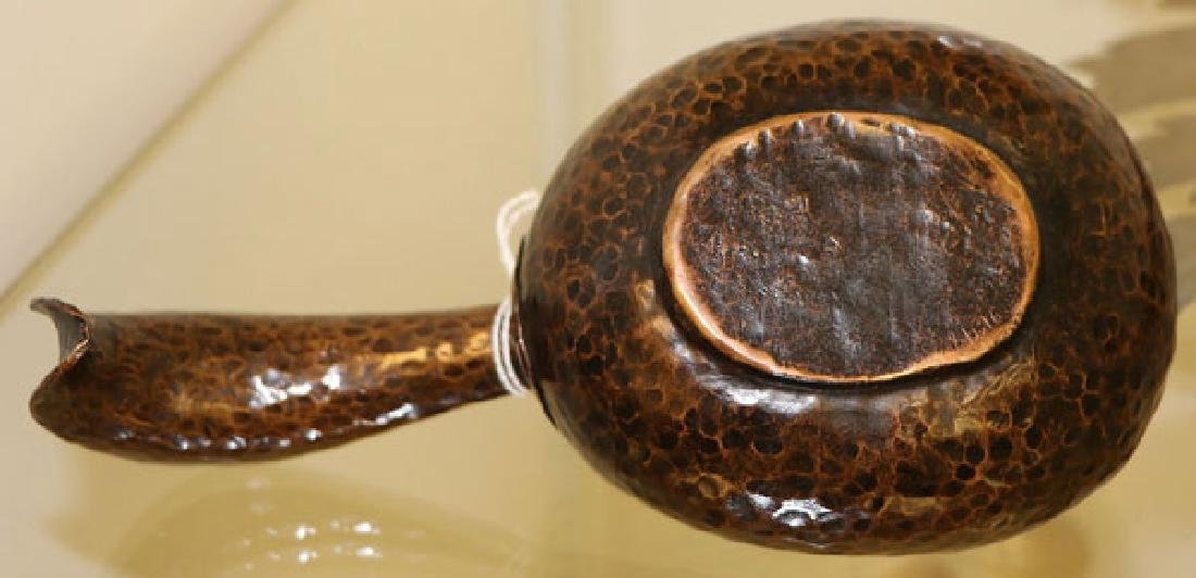 RUSSIAN ARTS AND CRAFTS HAMMERED COPPER KOVSH - 3