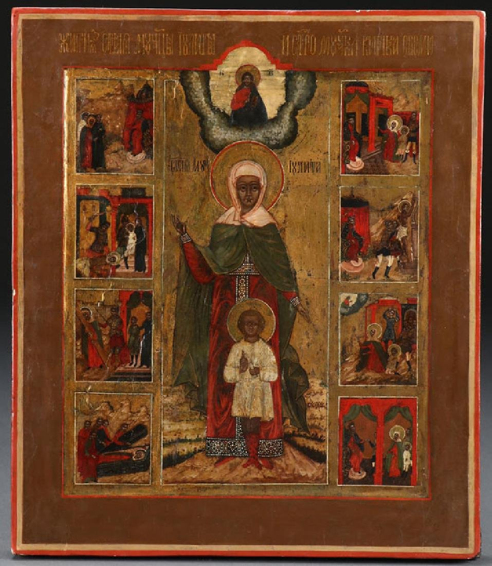 A GROUP OF THREE RUSSIAN ICONS - 5