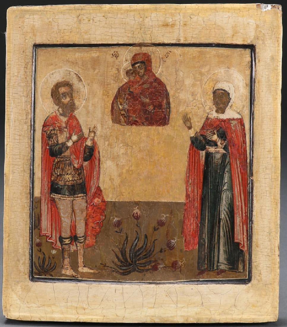 THREE RUSSIAN ICONS, 18TH CENTURY