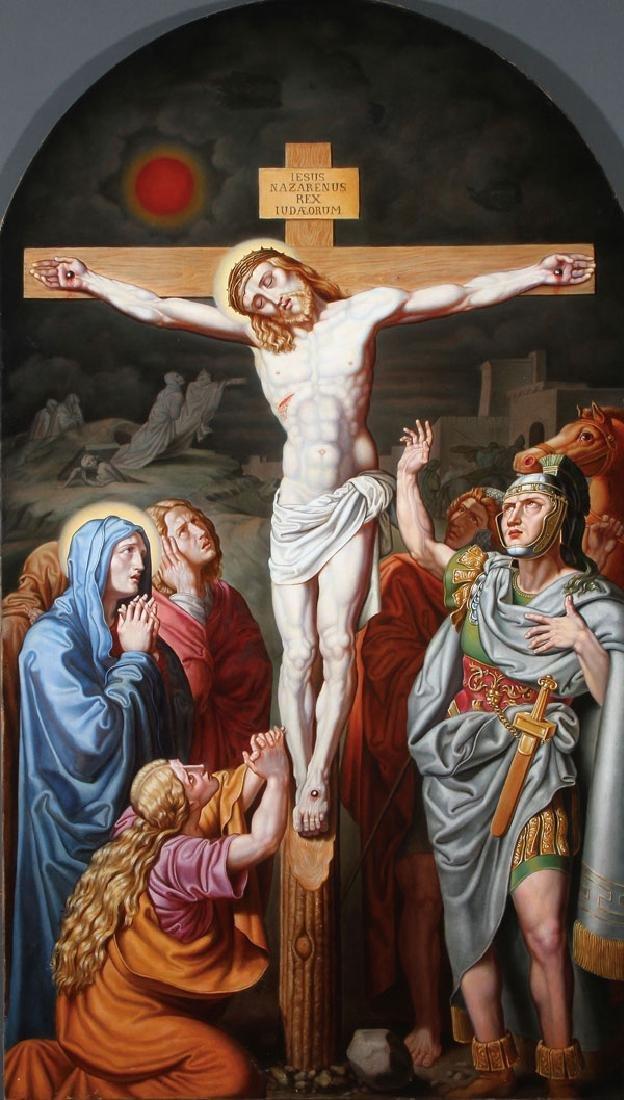 THE CRUCIFIXION C. 1850, CIRCLE OF JOSEPH VON FUHRICH