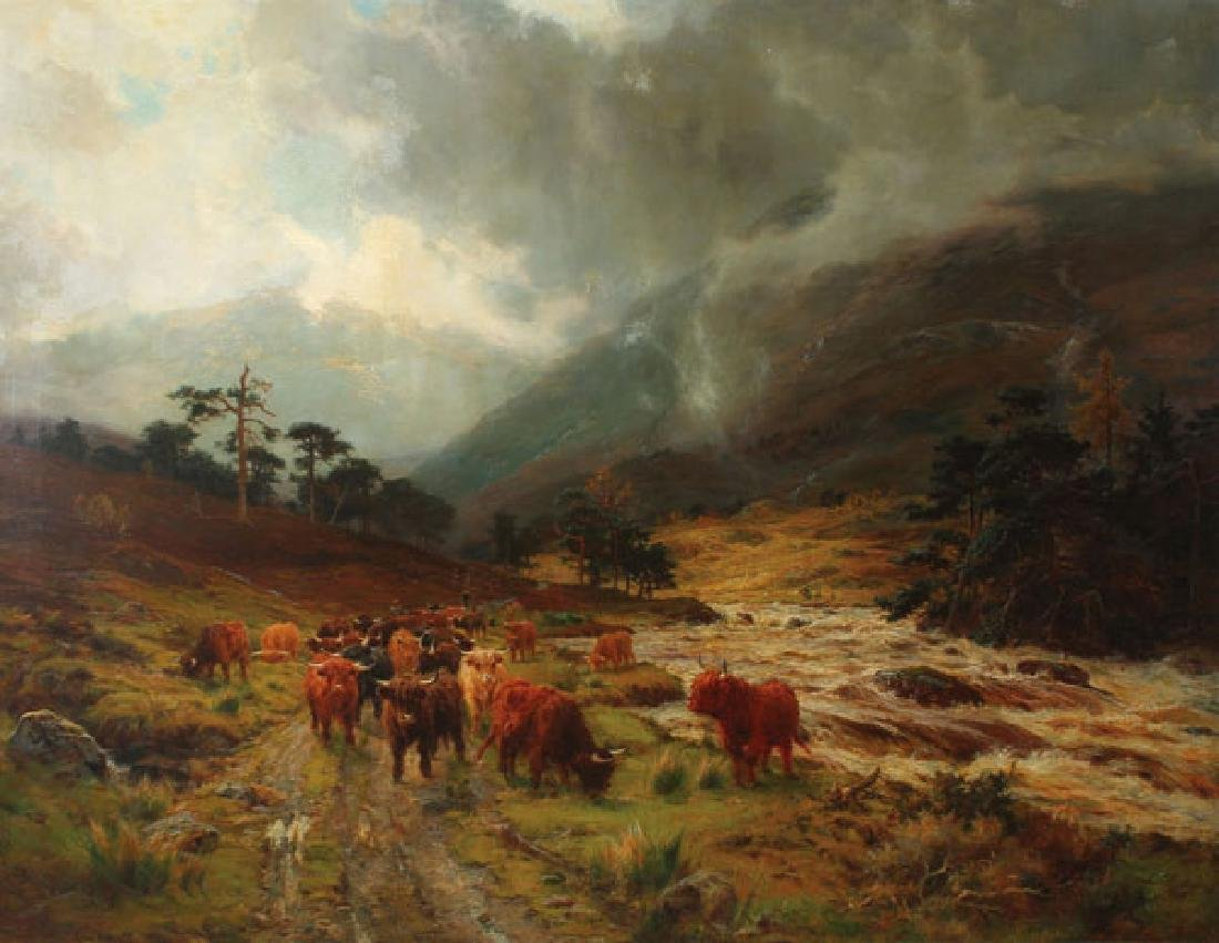 VERY FINE BRITISH HIGHLAND PAINTING, LOUIS B.HURT