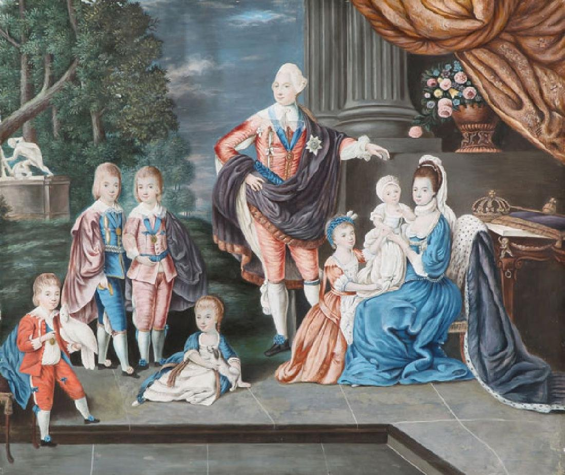 BRITISH FAMILY PORTRAIT C. 1800, AFTER JOHANN ZOFFANY