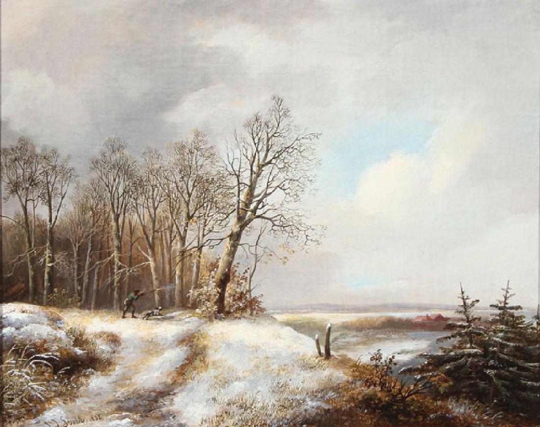 DUTCH WINTER LANDSCAPE, JAN JACOB SPOHLER (1811-1866)