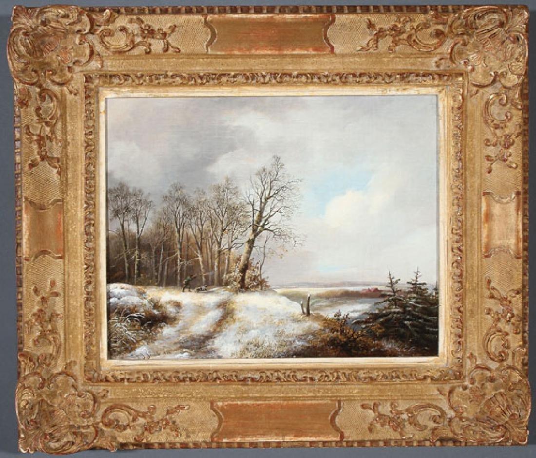 DUTCH WINTER LANDSCAPE, JAN JACOB SPOHLER (1811-1866) - 2